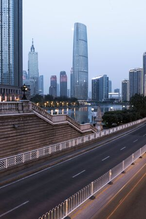 low angle view of skyscrapers in Shenzhen,China. Stock Photo