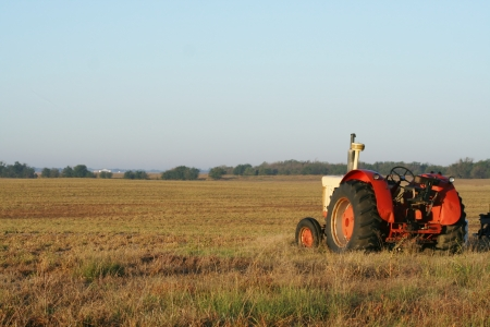 tractor at rest