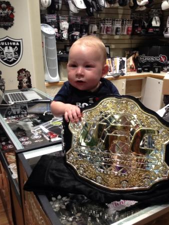 UFC baby in belt  Banco de Imagens