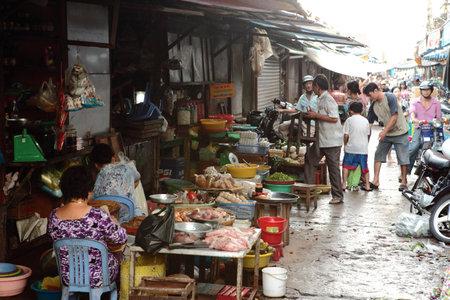 street market: Street Market in Vietnam