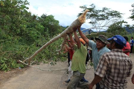 blockade: A Road Blockade in Bolivia