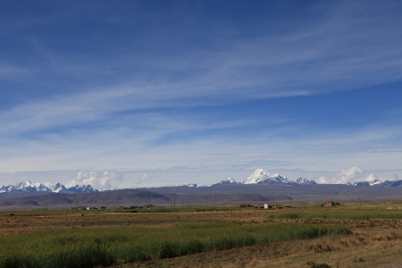 altiplano: The Altiplano with the Andes