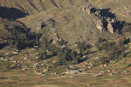 village lake titicaca bolivia photo