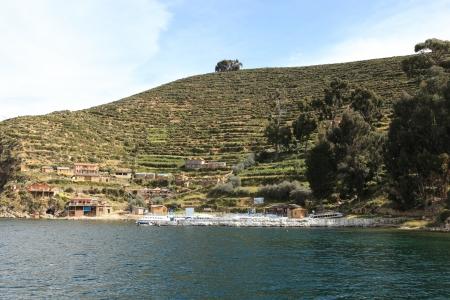Terrace Farming Lake Titicaca photo