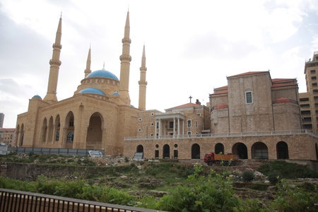Mosque and Churches in Beirut