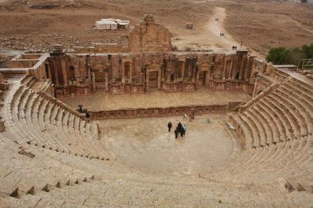 Roman Ruins in Jerash Jordan Editorial