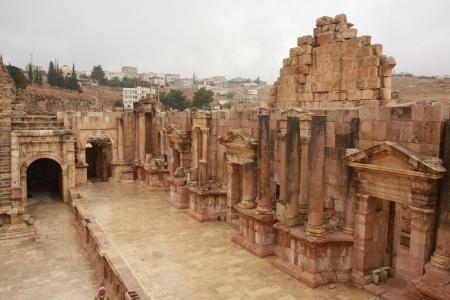 Roman Ruins in Jerash Jordan Standard-Bild