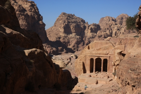 The Historic City Petra in Jordan photo