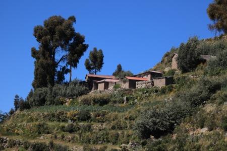 Dorp en Terras Farming op Eiland Taquile Titicacameer