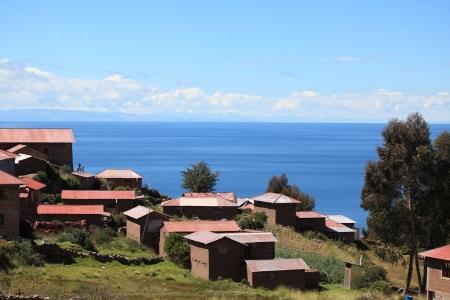 Village en Terras Farming bij Island Taquile Titicacameer