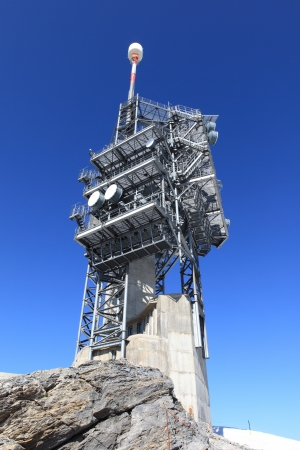 transmitter: Transmitter Comuincations Tower Stock Photo