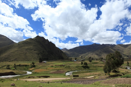 andean: Andean Landscape in Peru Stock Photo