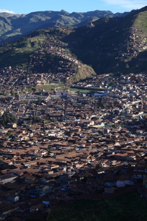 sacred valley of the incas: The City Cuzco in Peru