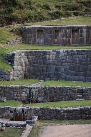 sacred source: Tambomachay the Bath of the Incas Stock Photo