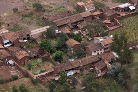 mud house: Village in Peru