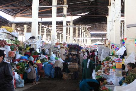 market hall: Market Hall in Cuzco Peru Editorial
