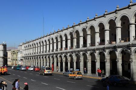 plaza de armas: Plaza de Armas in Arequipa Peru Editorial