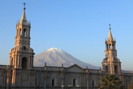 Plaza de Armas in Arequipa Peru Stock Photo