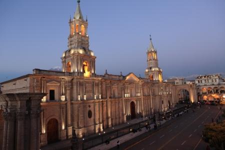 plaza de armas: Plaza de Armas in Arequipa Peru Stock Photo