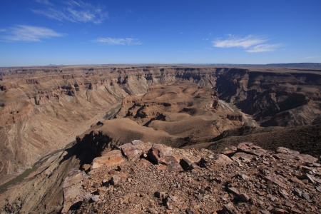 specificity: Fish River Canyon Namibia Stock Photo