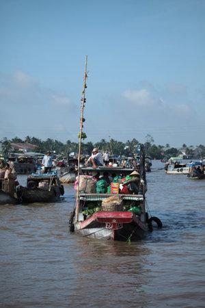 march� flottant: Mekong March� flottant au Vietnam