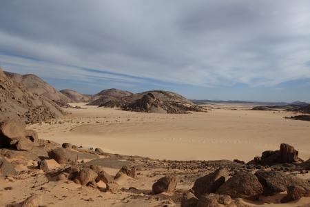 Sanddunes dans le Sahara de l'Alg�rie Banque d'images - 23768223