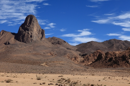 Hoggar Mountains in Algeria photo