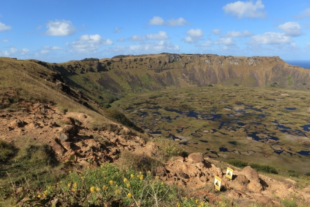 rapa nui: Isla de Pascua Cráter Rano Kau