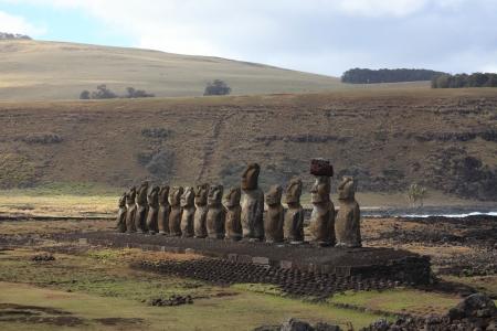 Moai Statue at Easter Island photo