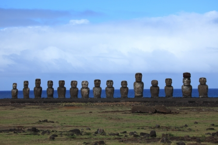 Moai Statue at Easter Island photo
