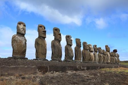 rano raraku: Moai Statue at Easter Island Stock Photo