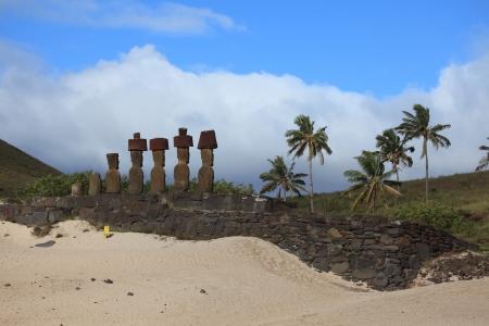 easter island: Easter Island Beach Anakena