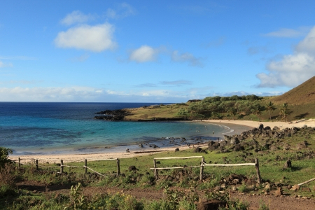 Easter Island Beach Anakena photo