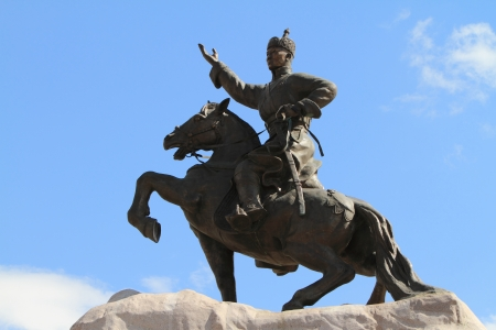 Genghis Khan Monument Ulaanbaatar Standard-Bild