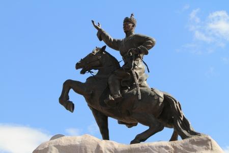 Genghis Khan Monument Ulaanbaatar Stock Photo