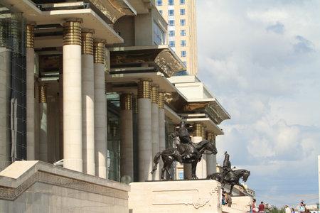 khan: Genghis Khan Monument Ulaanbaatar Editorial