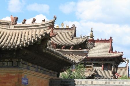 the lama: Choijin Lama Monastery Ulaanbaatar Stock Photo
