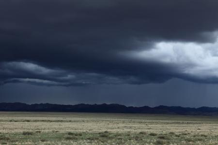 rainy season: Rainy Season in Mongolia Stock Photo