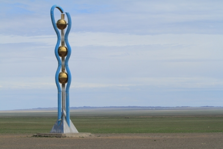 gobi desert: Mongolian Monument in the Desert Gobi