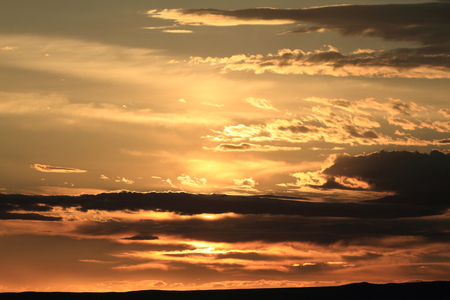 gobi desert: Sunset at the Desert Gobi Stock Photo