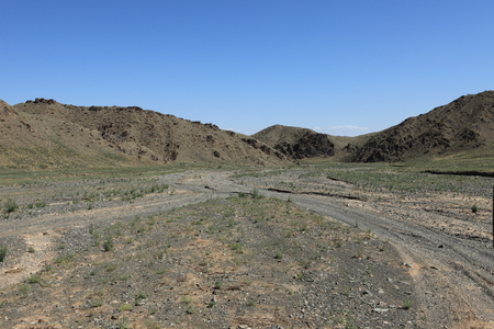 gobi desert: Dry River in the Desert Gobi