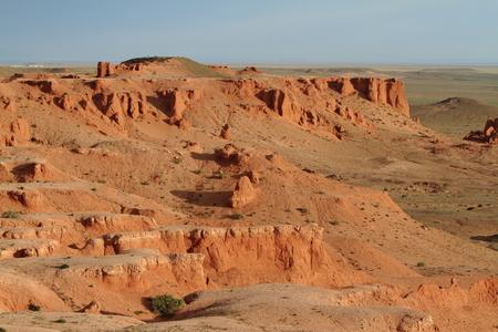 weathering: The Flaming Cliff of Bayanzag Desert of Gobi