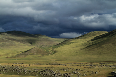Rainy Season in Mongolia Stock Photo