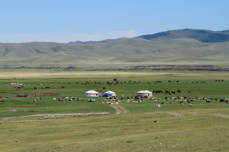Yurt Village Mongolia Stock Photo - 26297944