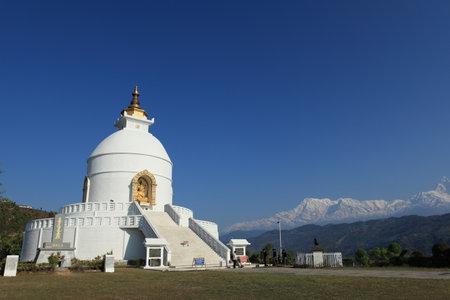 pokhara: World Peace Pagoda Pokhara Nepal Editorial