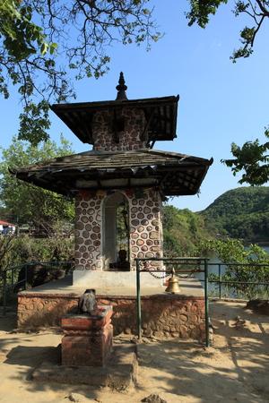 pokhara: Shrine in Pokhara Nepal Stock Photo