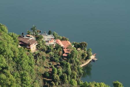 pokhara: Lake Pokhara Nepal Stock Photo