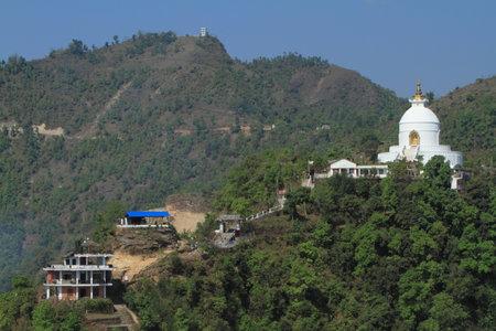 paz mundial: World Peace Pagoda Pokhara Nepal Editorial