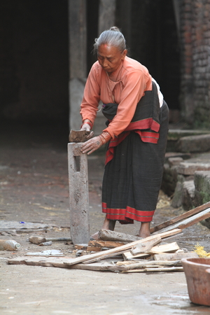 Old Woman from Nepal photo