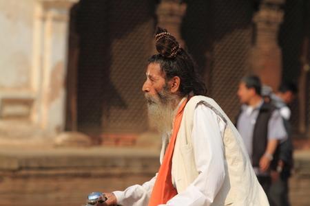 Holy Sadhu of Bhaktapur Nepal Stock Photo - 28199923